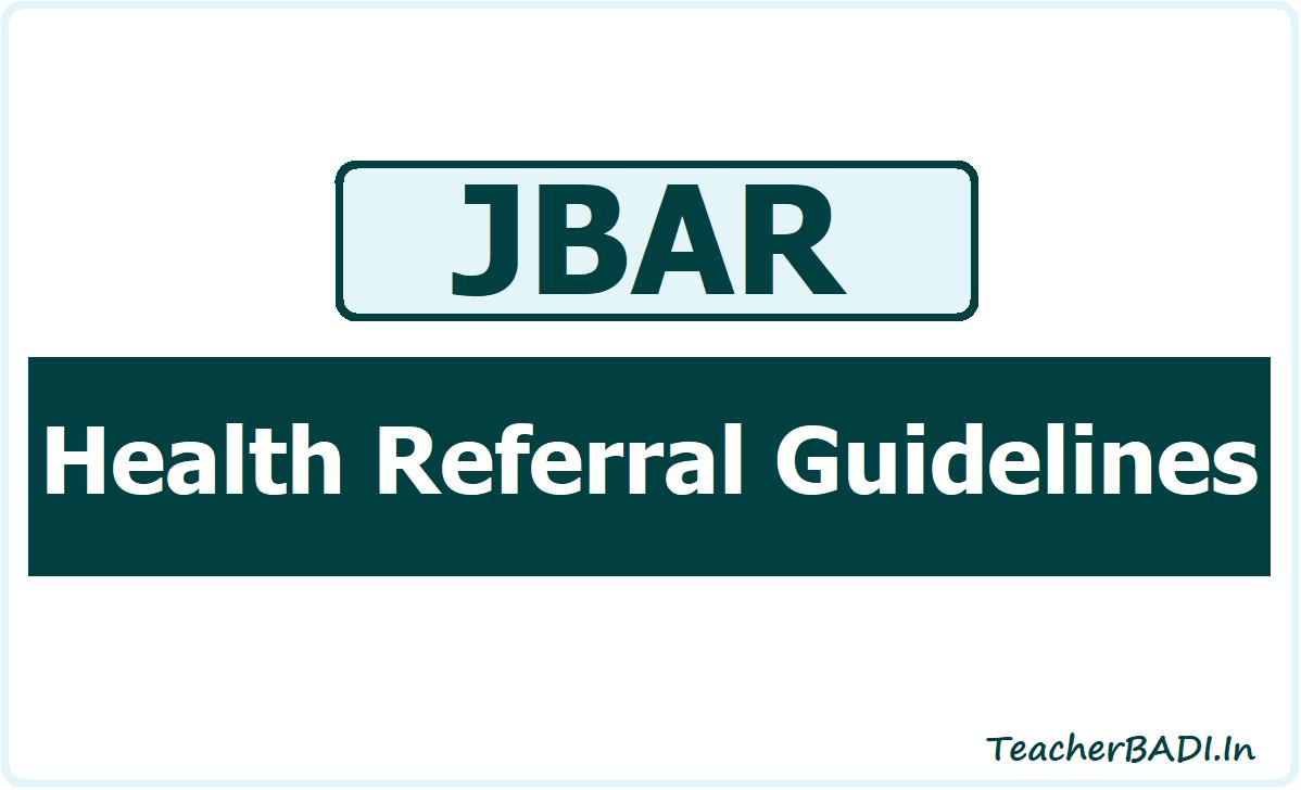 JBAR Health Referral Guidelines