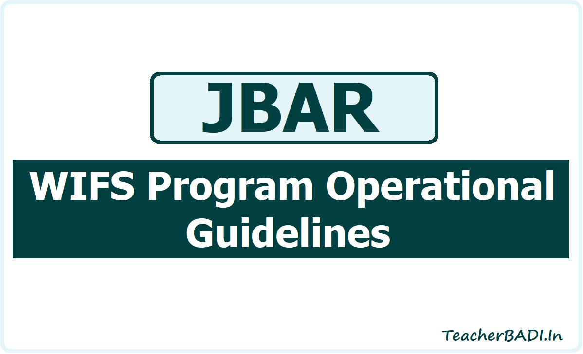 JBAR WIFS Program Operational Guidelines