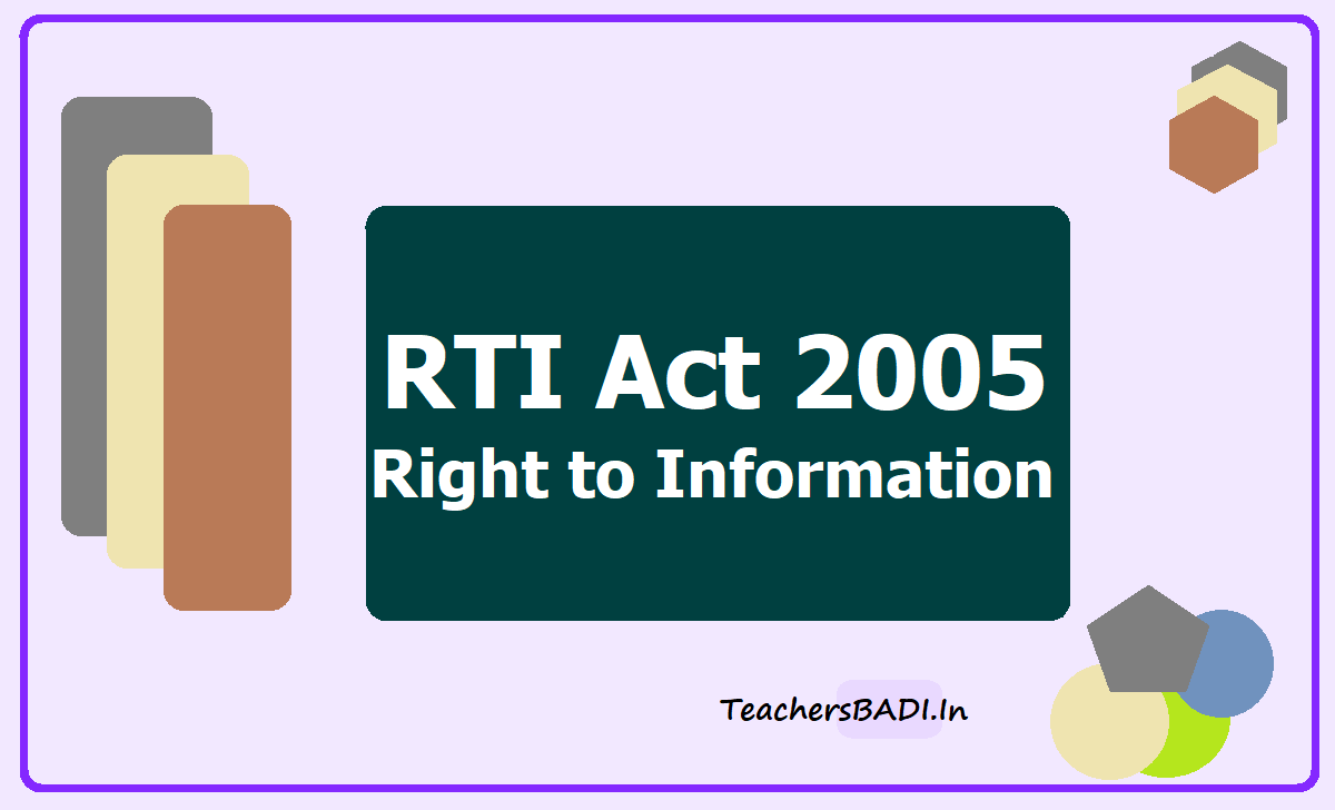 RTI Act 2005 Right to Information Act 2005