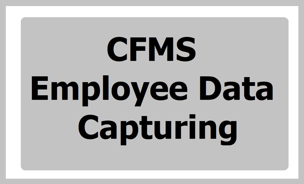 CFMS Employee Data Capturing