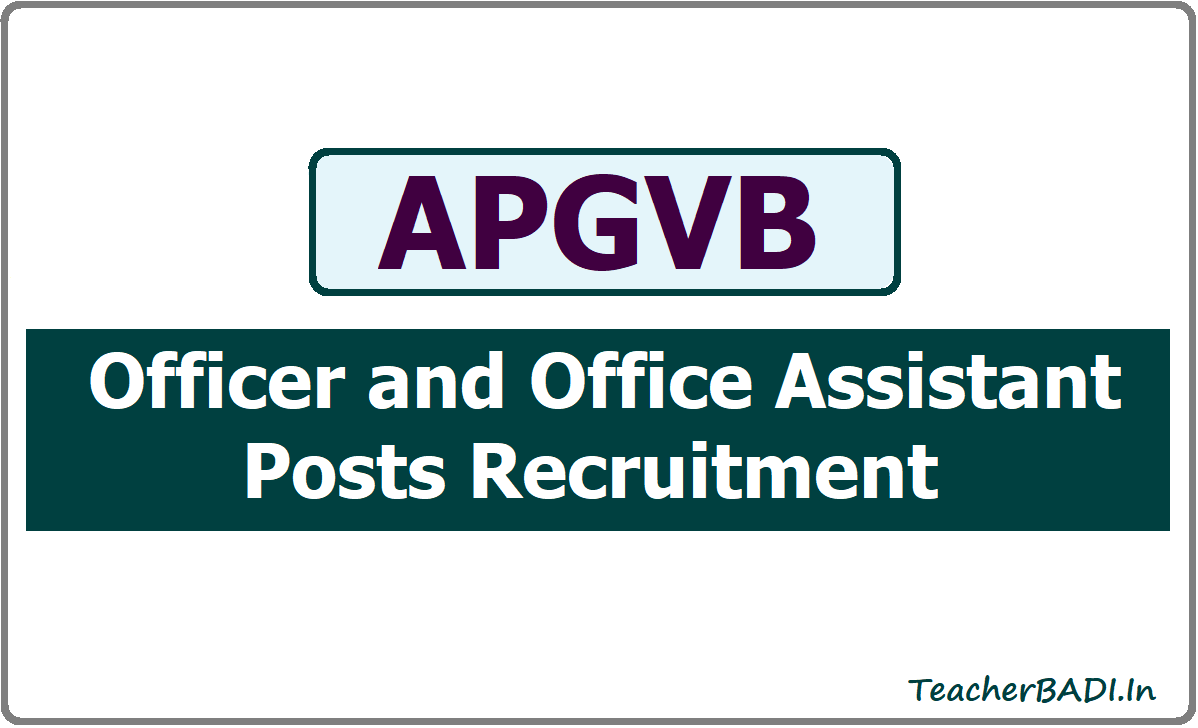 APGVB Officer and Office Assistant Posts