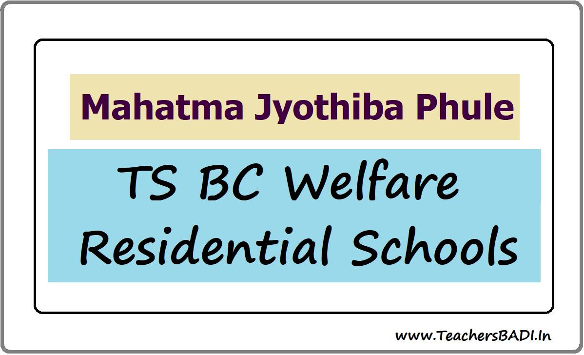 Mahatma Jyothiba Phule TS BC Welfare Residential Schools