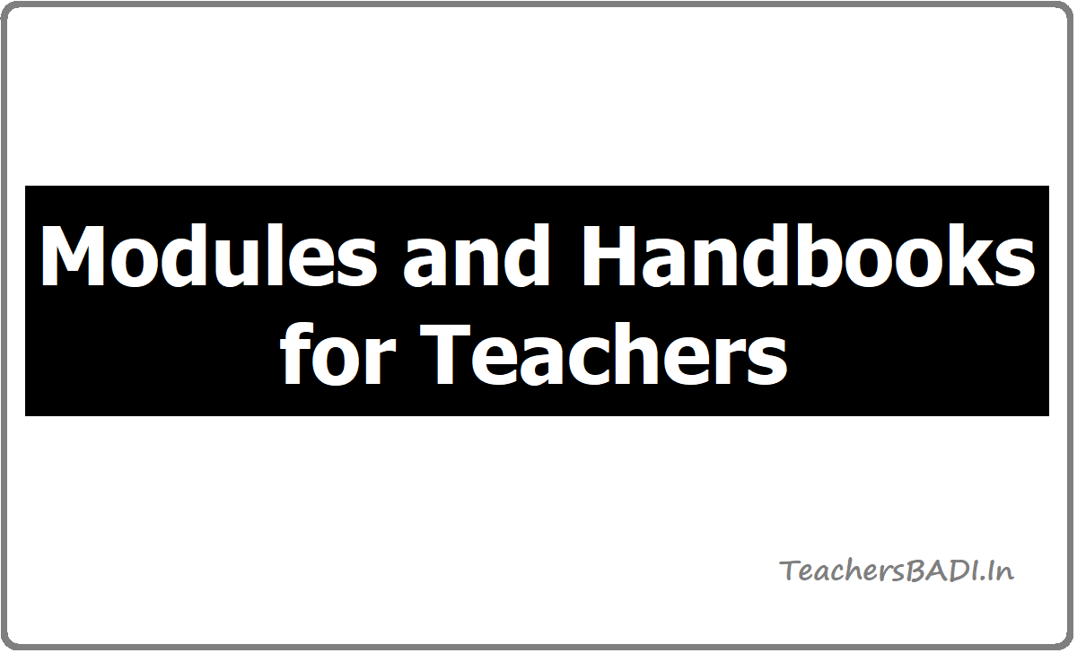 Modules and Handbooks for Teachers