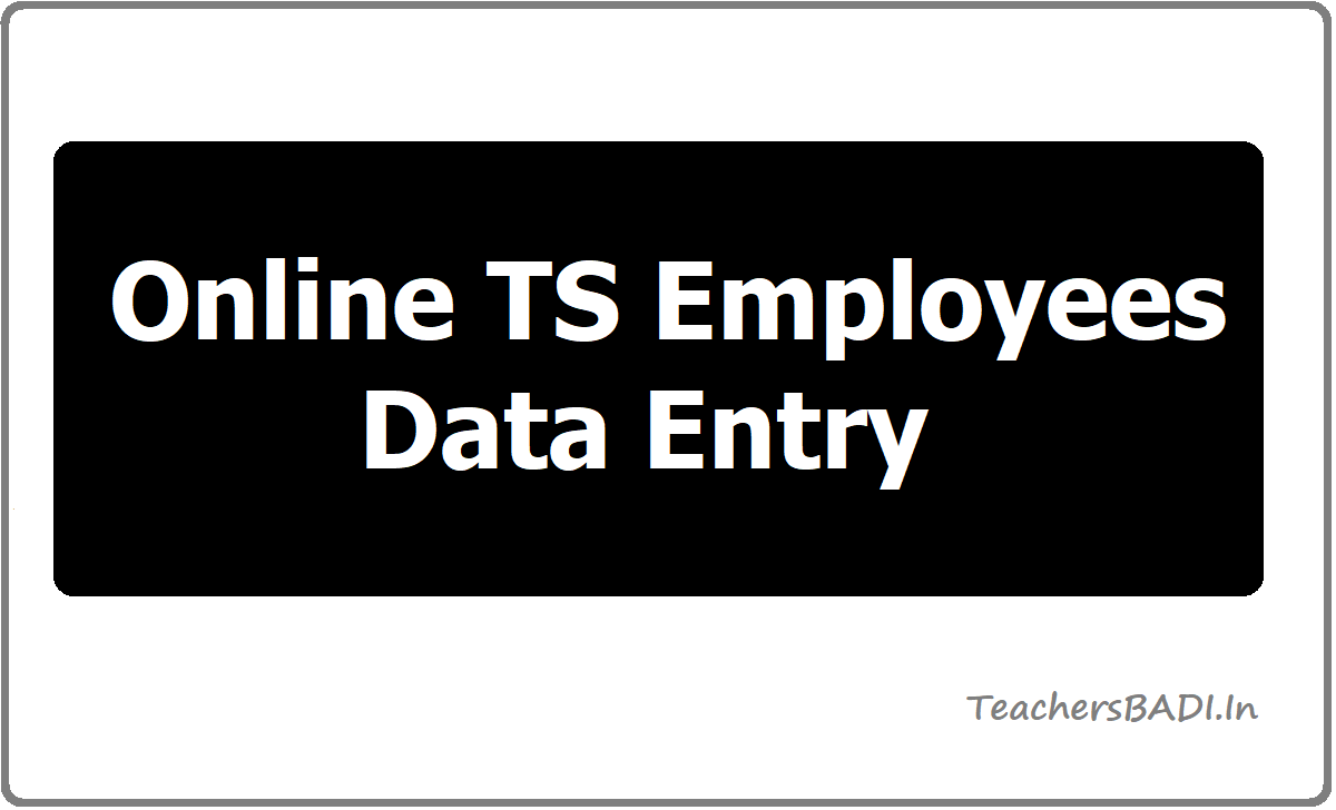 Online TS Employees Data Entry