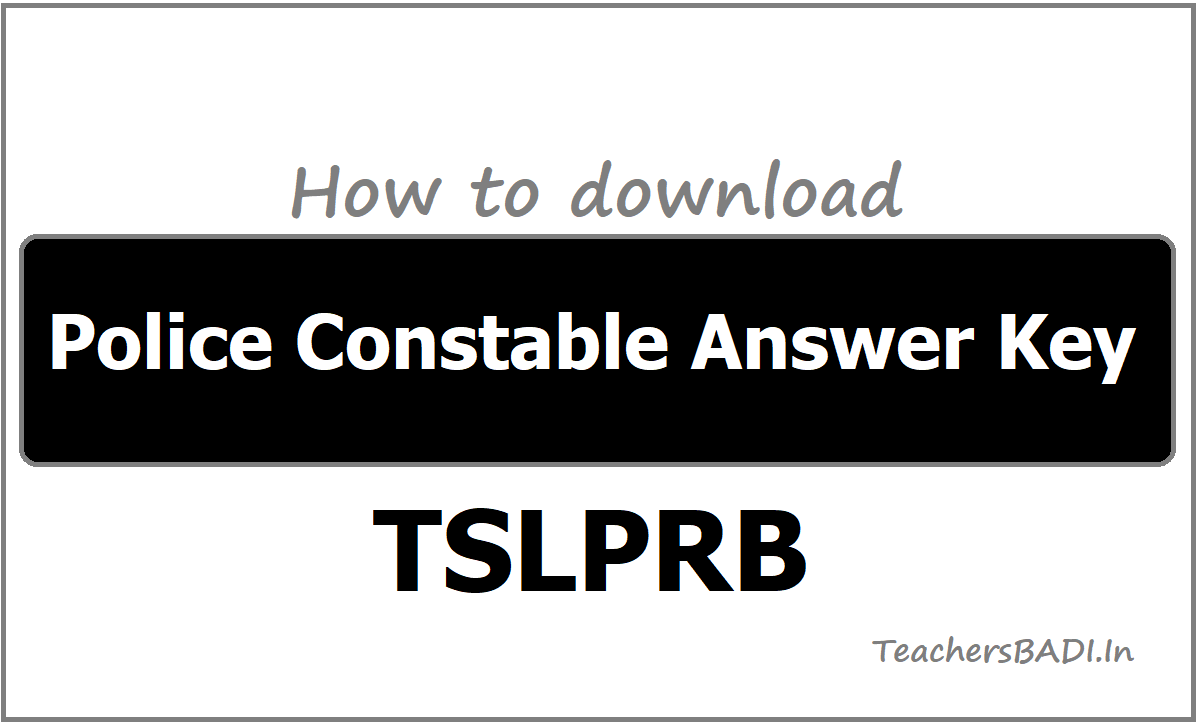 How to download Police Constable Answer Key