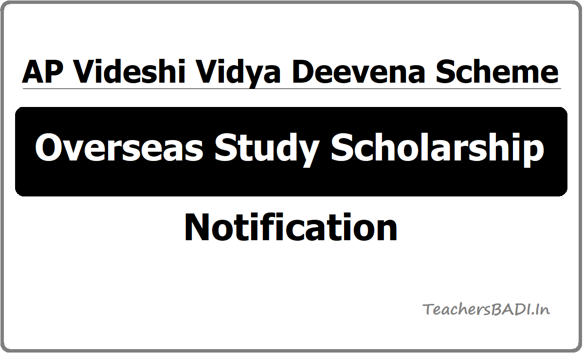 AP Videshi Vidya Deevena Scheme Overseas Study Scholarship