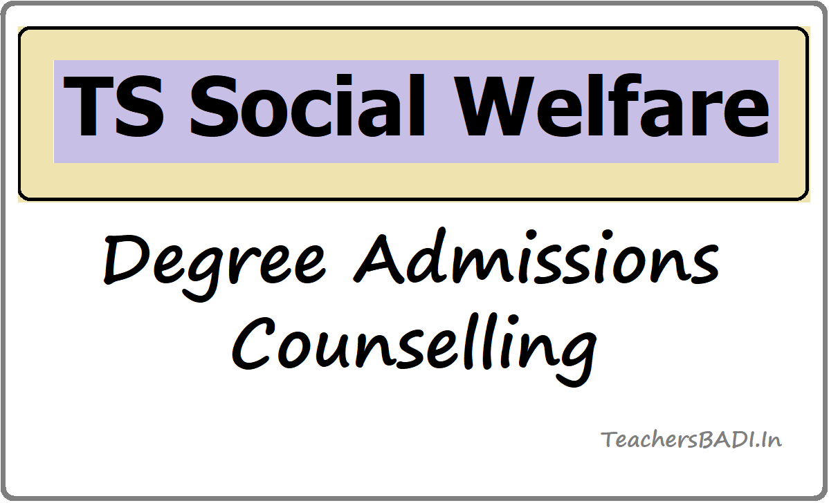 TS Social Welfare Degree Admissions Counselling