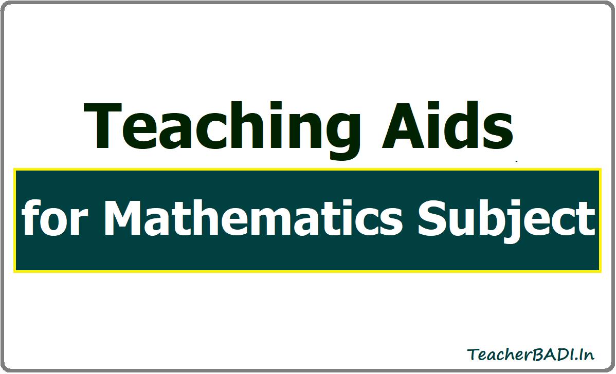 Teaching Aids for Mathematics Subject