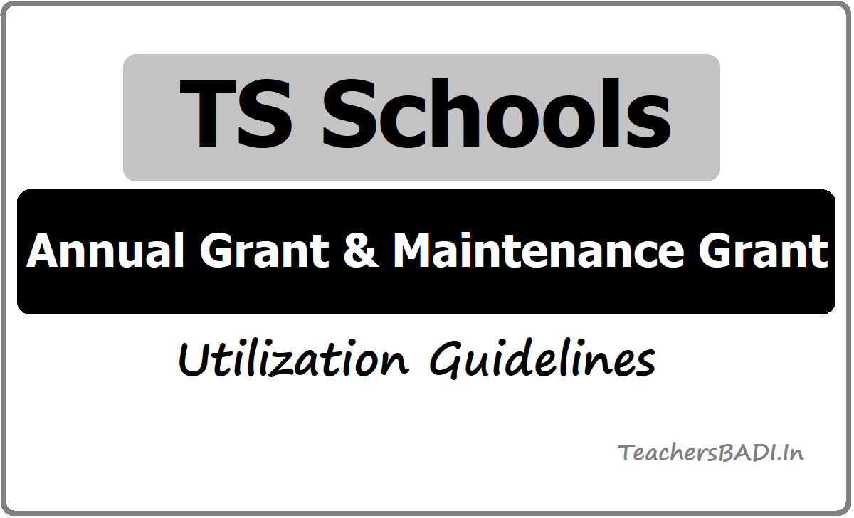 TS Schools Annual Grant & Maintenance Grant Utilization Guidelines