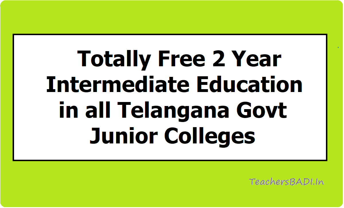 Totally Free 2 Year Intermediate Education
