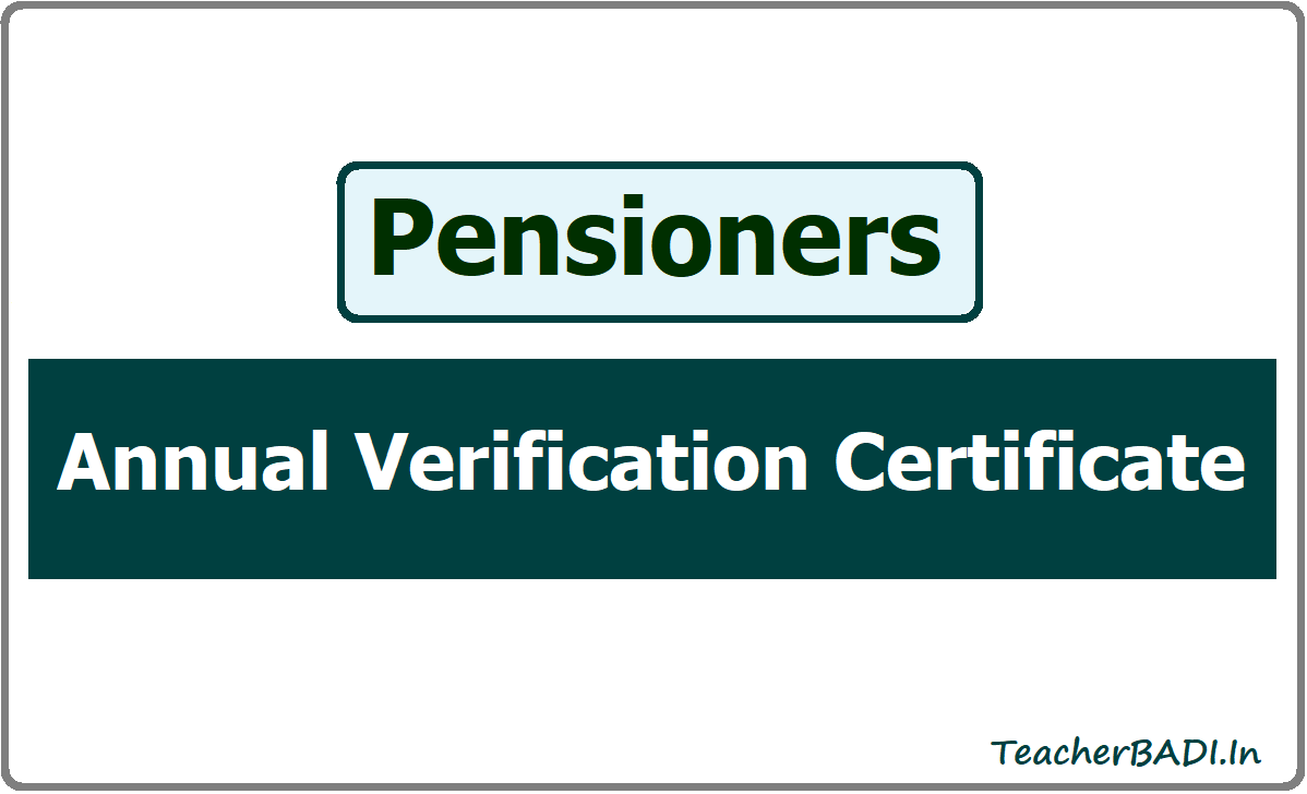 Annual Verification Certificate of Pensioners