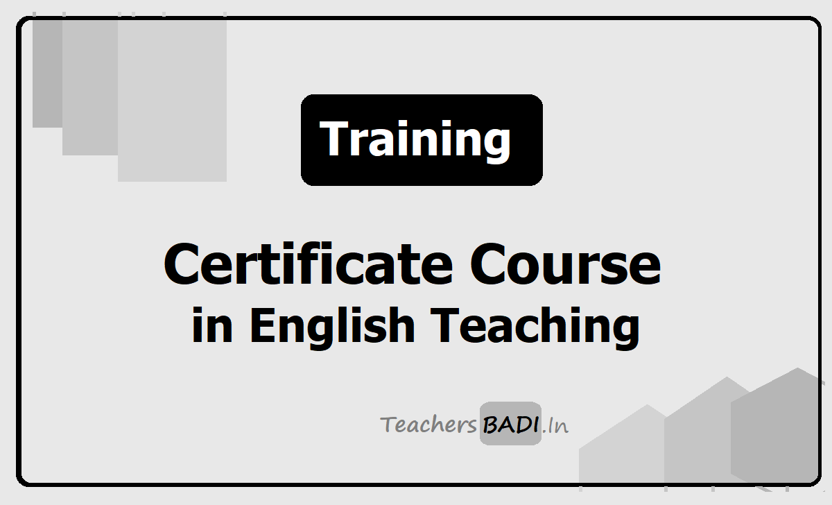 30 Days Certificate Course in English Language Teaching for Teachers