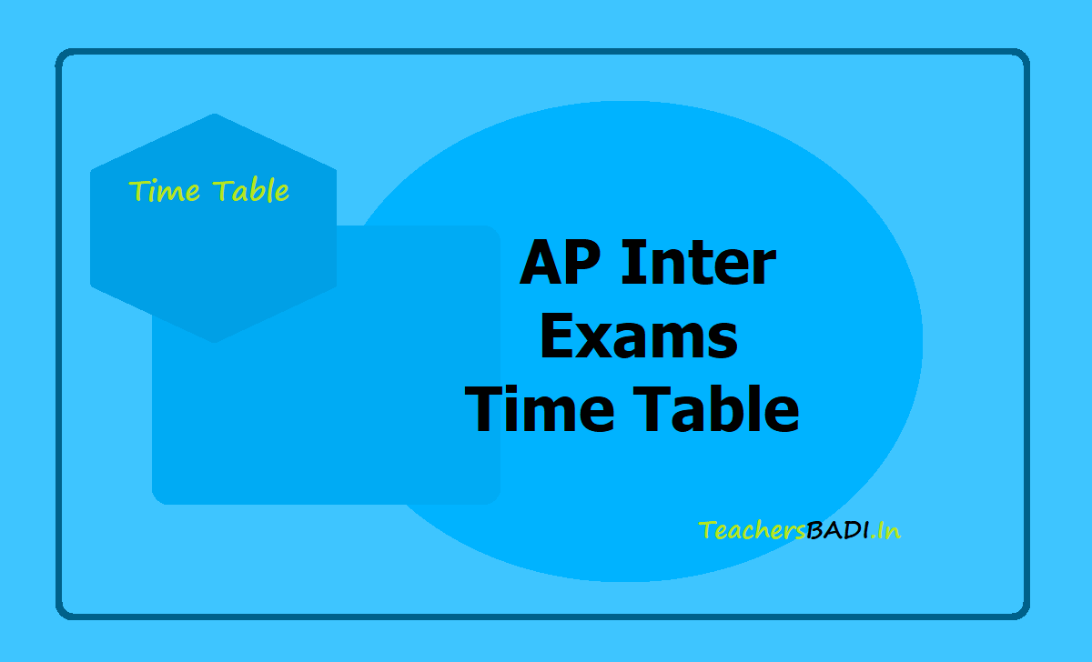 AP Inter Exams Time Table 2020