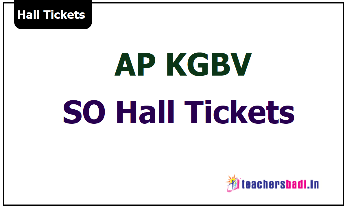 AP KGBV  Special Officers Hall Tickets