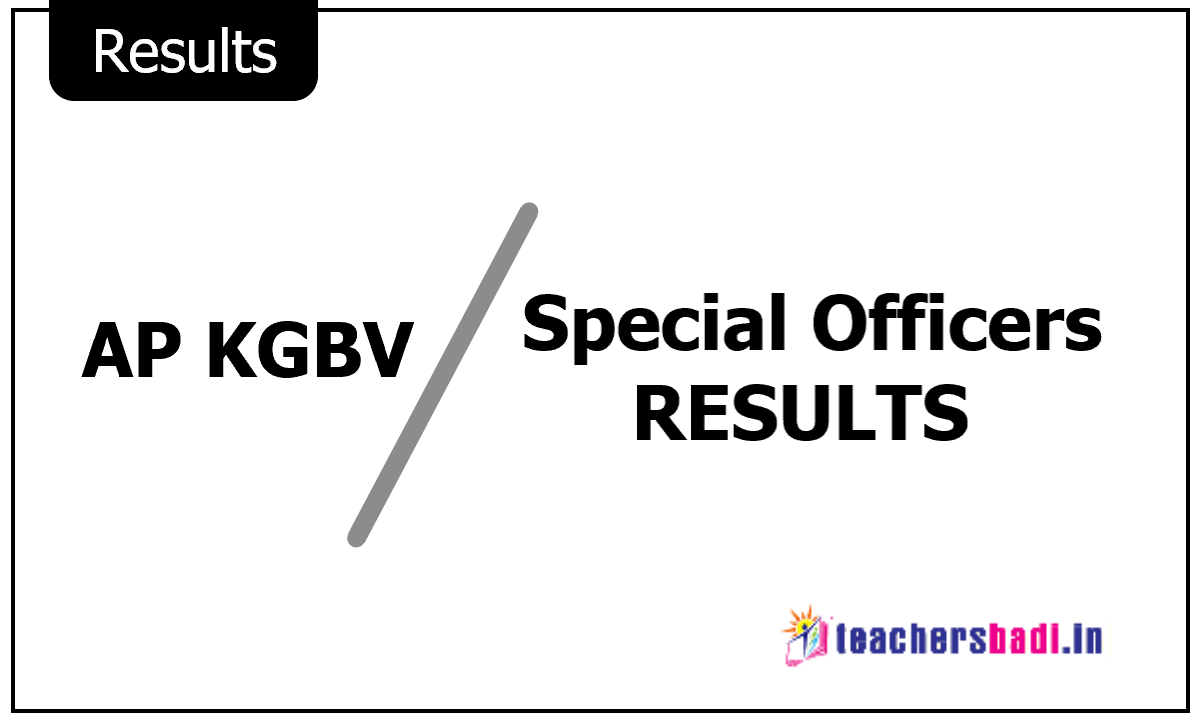 AP KGBV Special Officers Results 2020