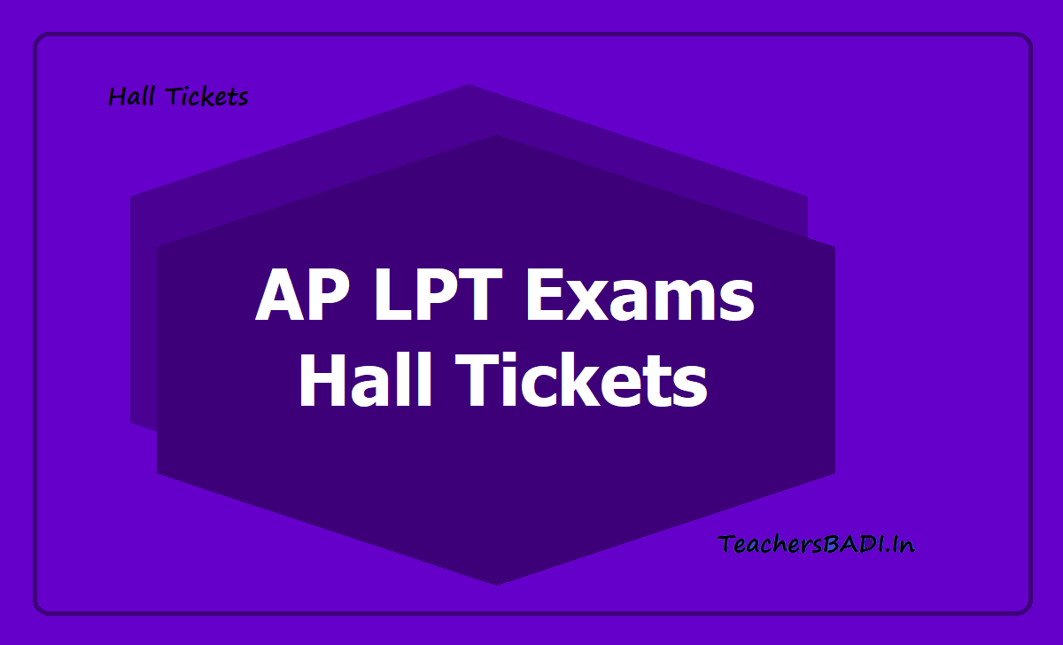AP LPT Exams Hall Tickets 2020