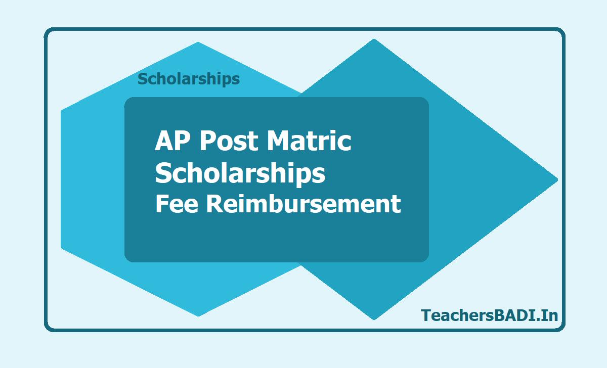 AP Post Matric Scholarships, Fee Reimbursement