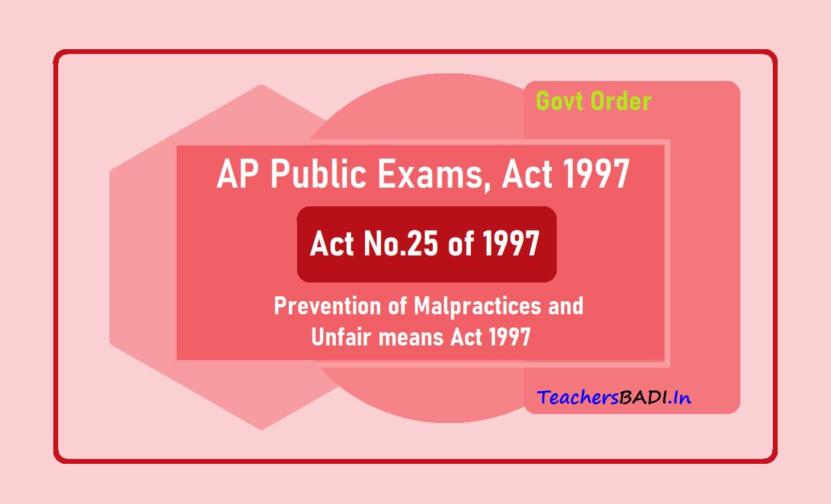 AP Public Exams Act 1997