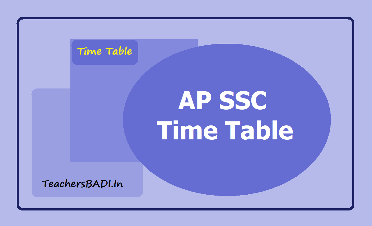 AP SSC Exams Time Table