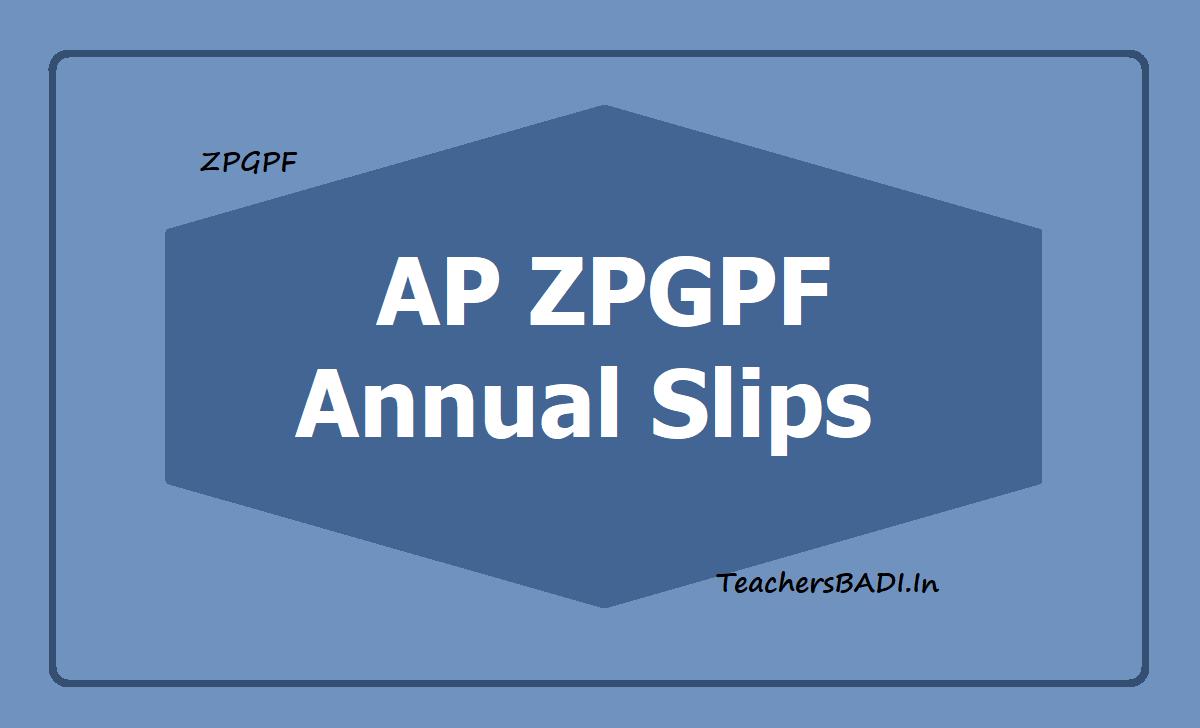 AP ZPGPF Annual Slips