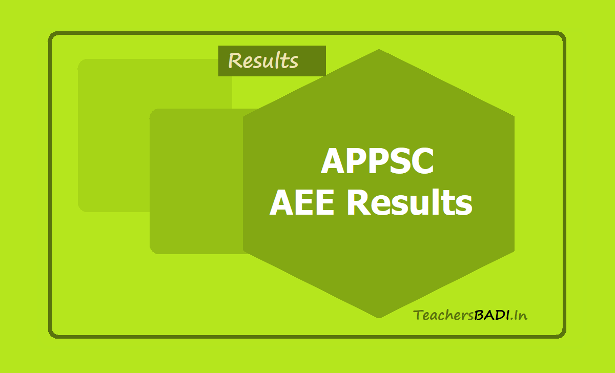 APPSC AEE Results 2020