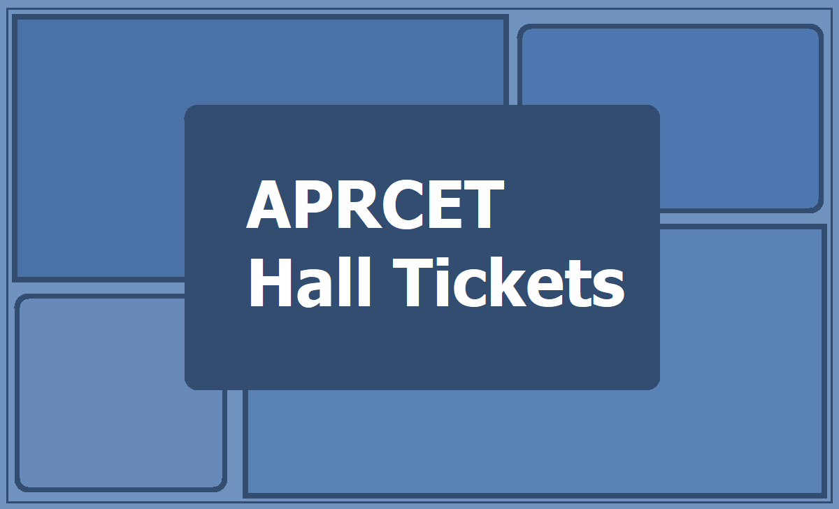 APRCET Hall tickets 2019