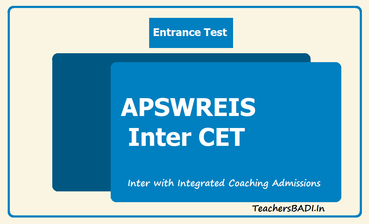 APSWREIS Inter CET 2020