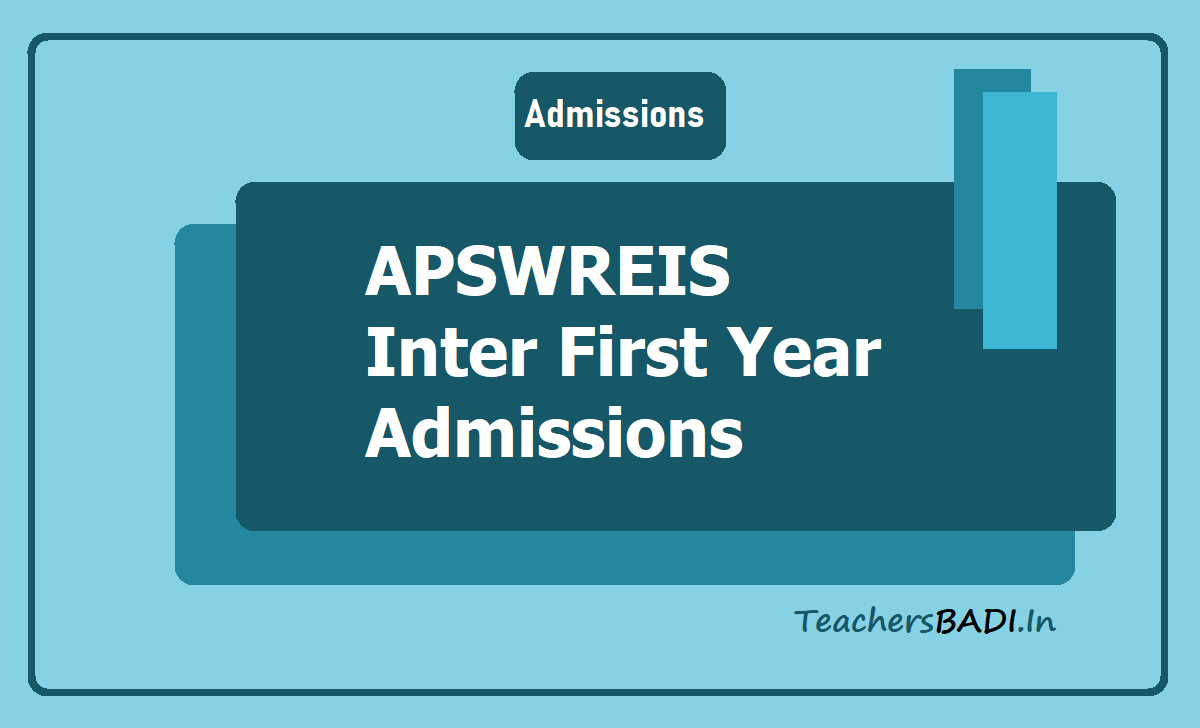APSWREIS Inter first year Admissions 2020