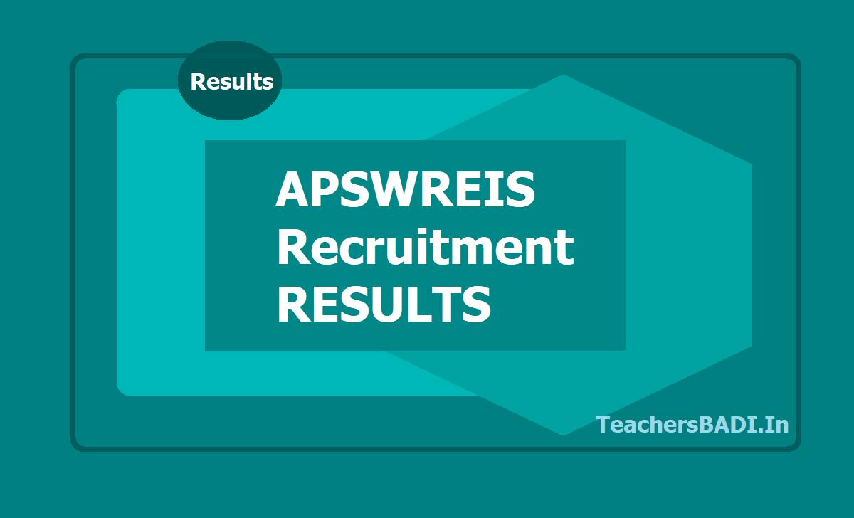 APSWREIS TGT Results 2019