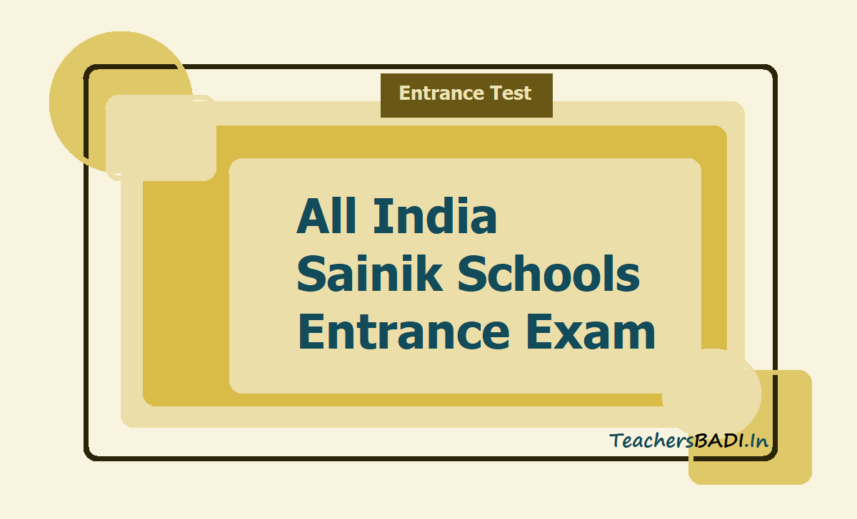 All India Sainik Schools Entrance Exam 2021