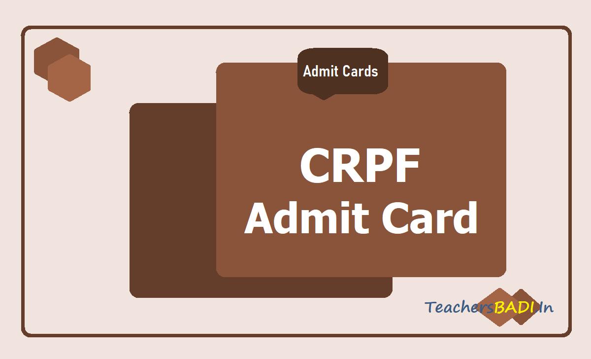 CRPF Admit Card