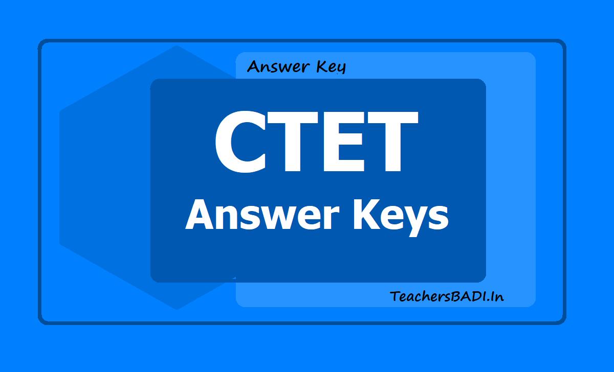 CTET 2019 Answer Keys