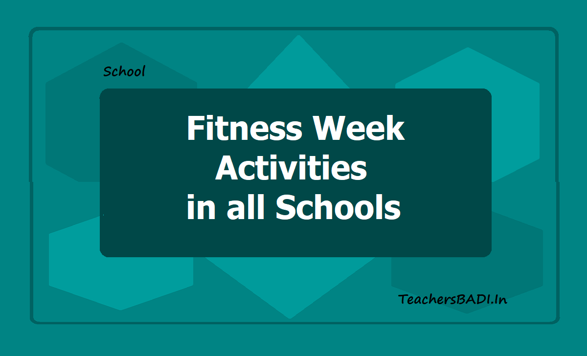 Fitness Week Activities & Celebrations in all Schools 2020