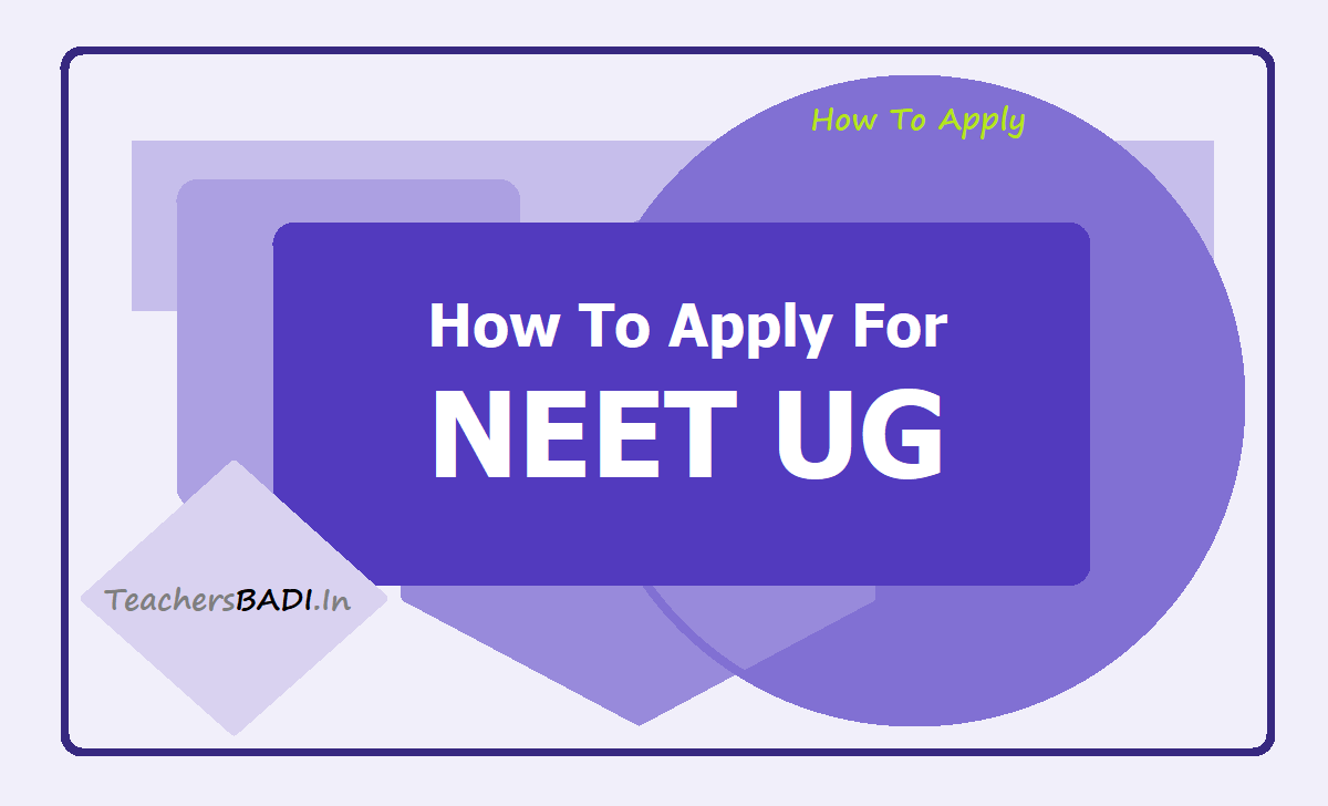 How to Apply for NEET UG 2020