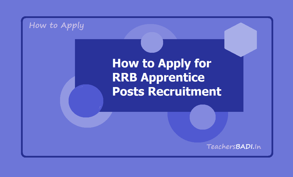 How to Apply for RRB Apprentice Posts Recruitment