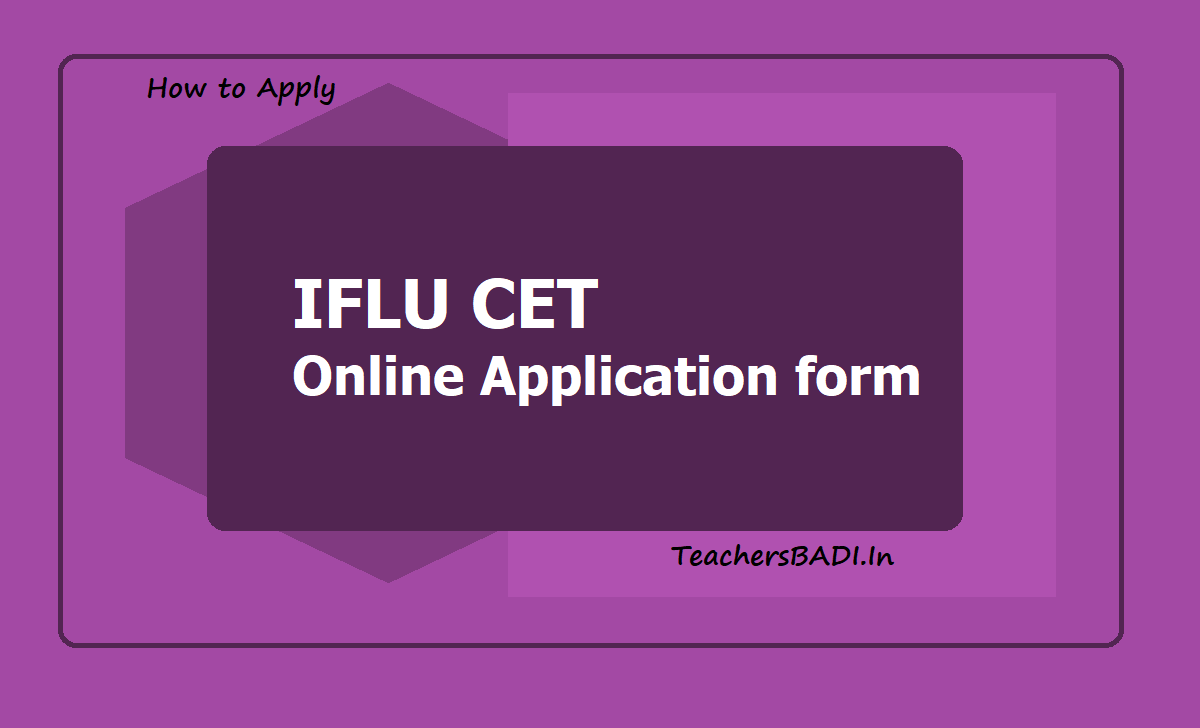 IFLU CET Online Application form 2020