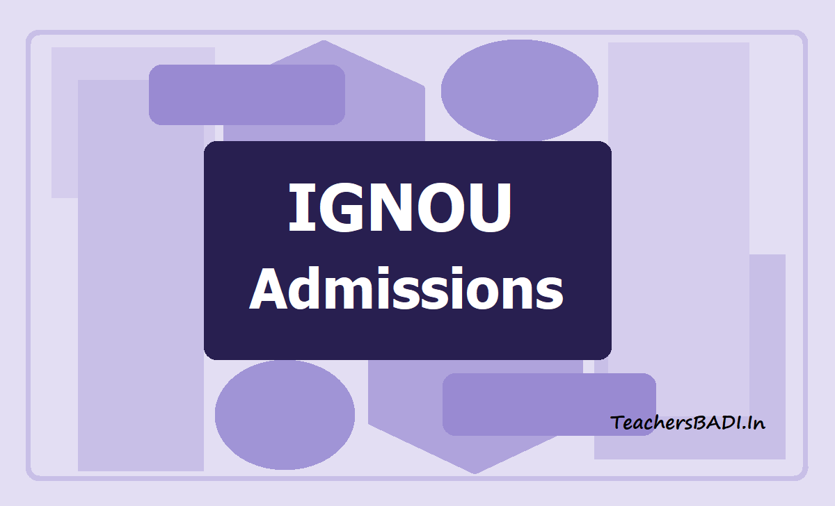 IGNOU Admissions