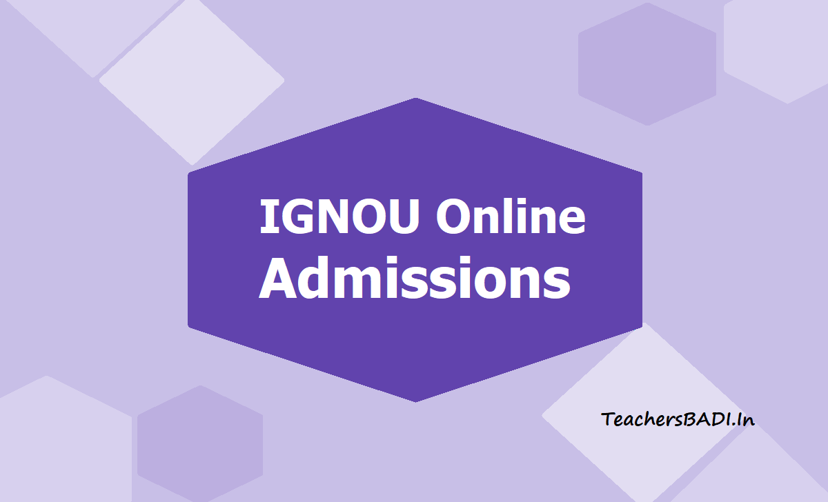 IGNOU Online Admissions 2020