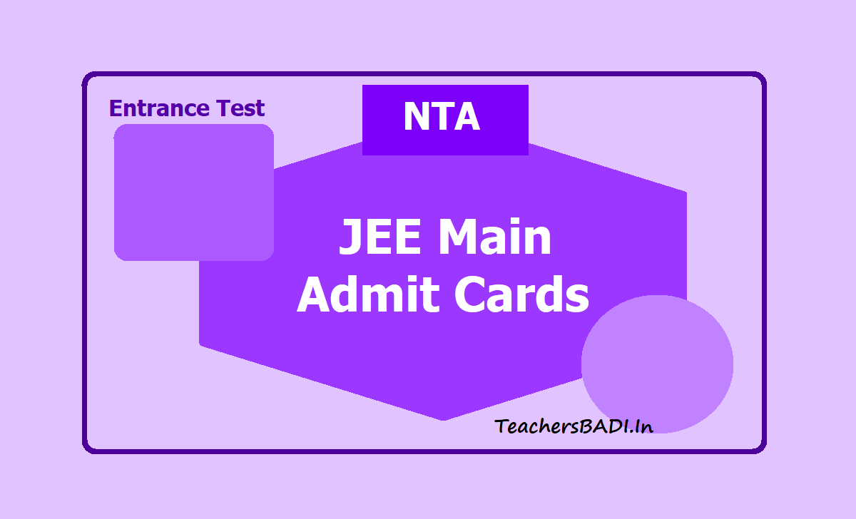 JEE Main Admit Cards