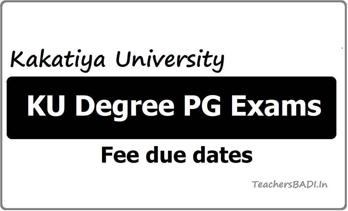 KU Degree PG Exams Fee due dates