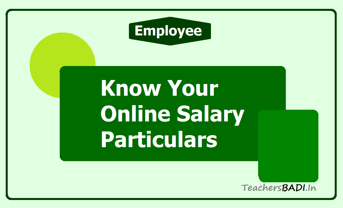 Know Your Online Salary Particulars