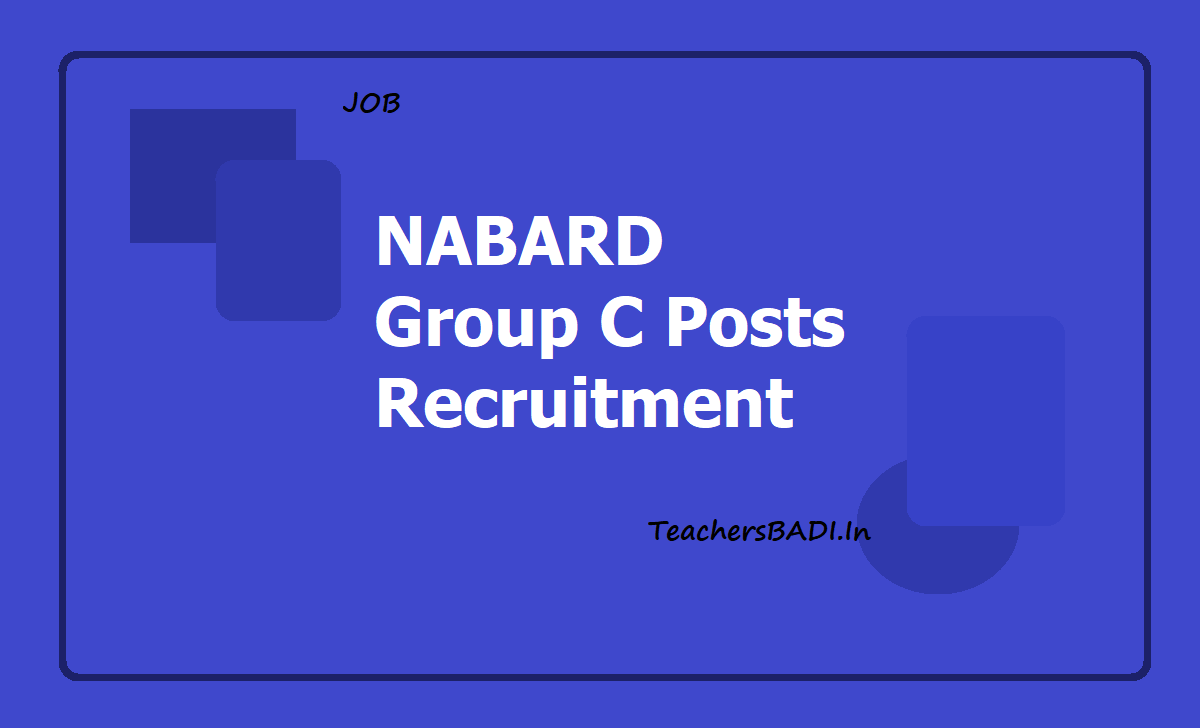 NABARD Group C Posts Recruitment 2019
