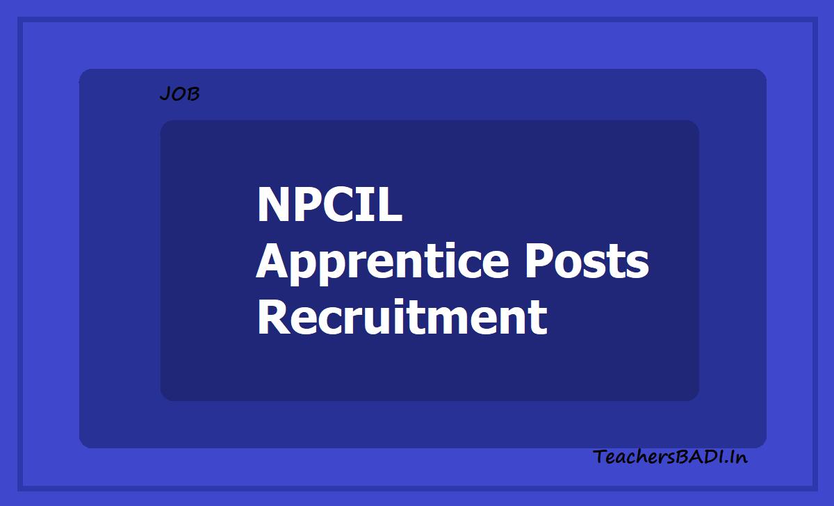 NPCIL Apprentice Posts Recruitment 2020