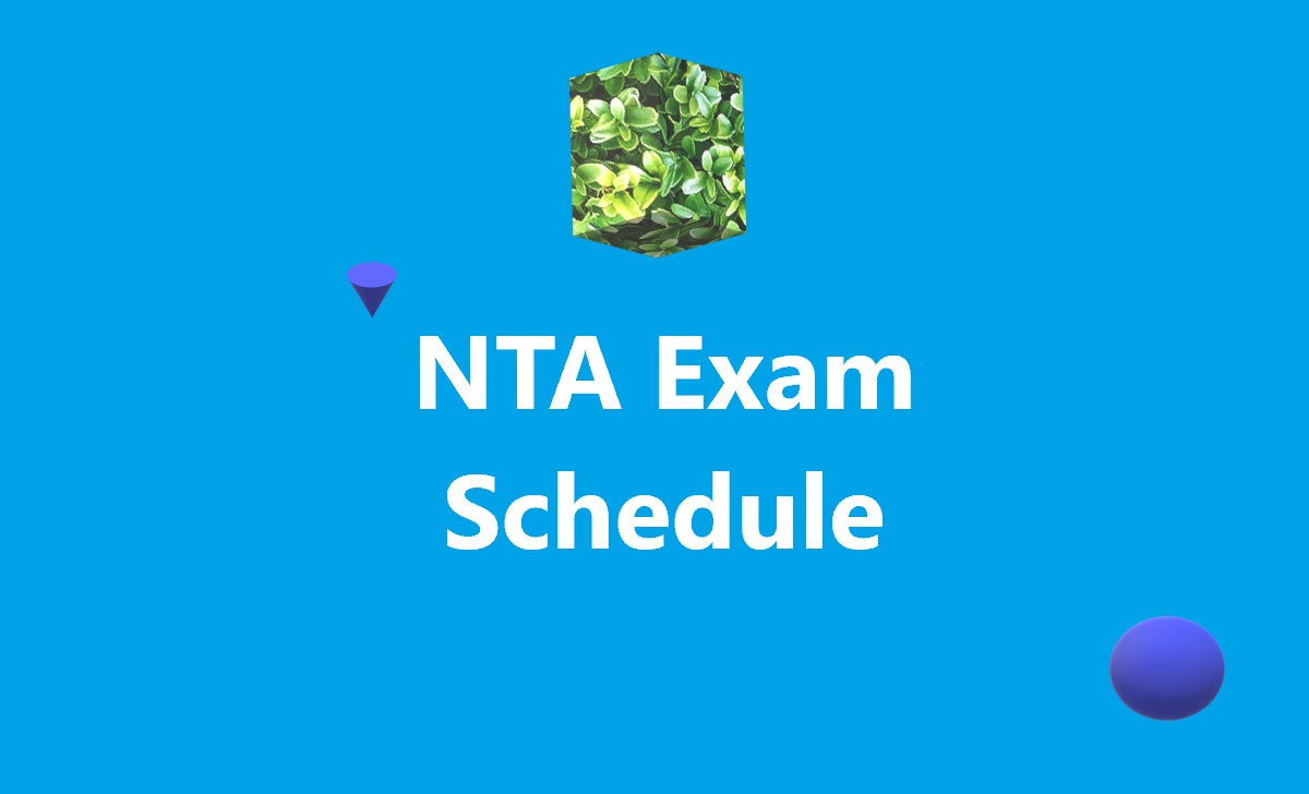 NTA Exam Schedule 2020