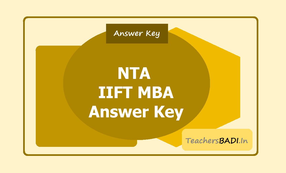 NTA IIFT MBA Answer Key