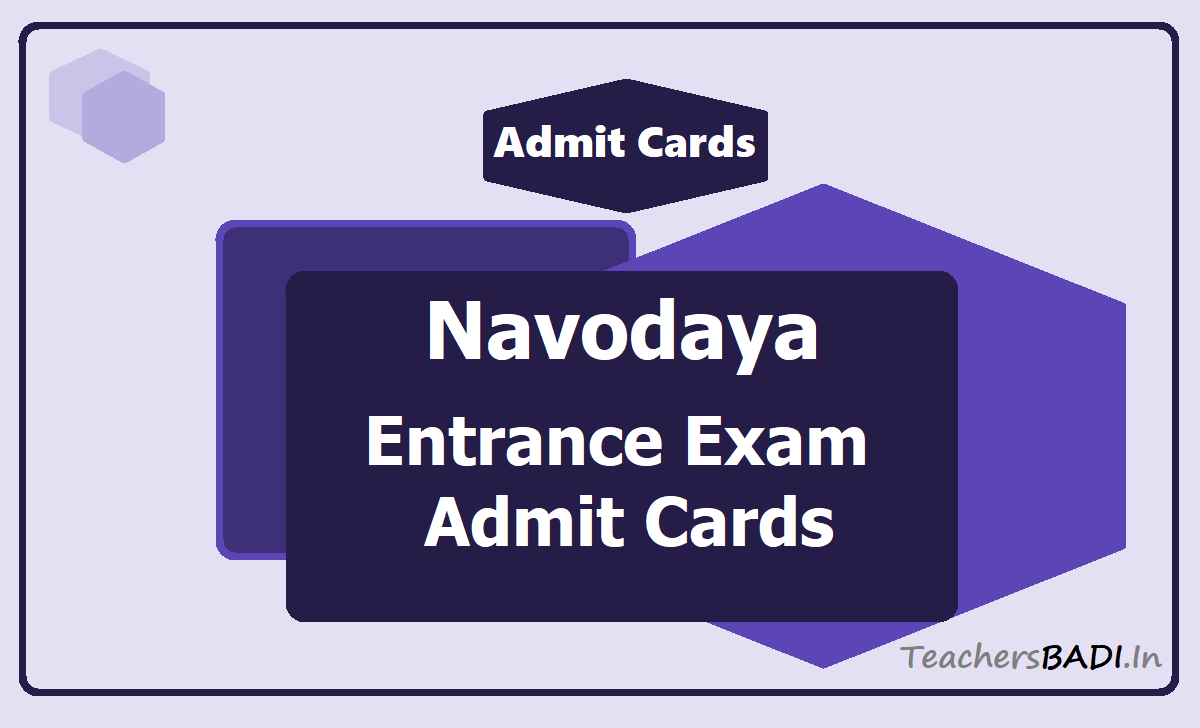 Navodaya Entrance Exam Admit Cards 2002
