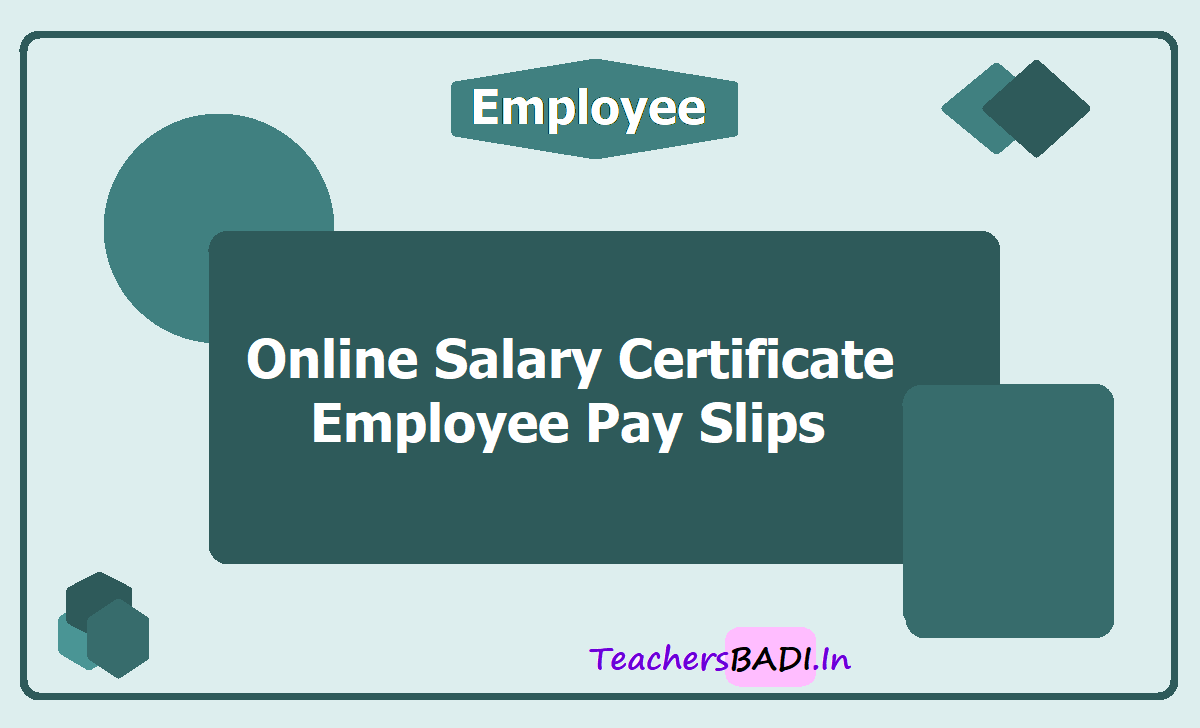 Online Salary Certificate - Employee Pay Slips