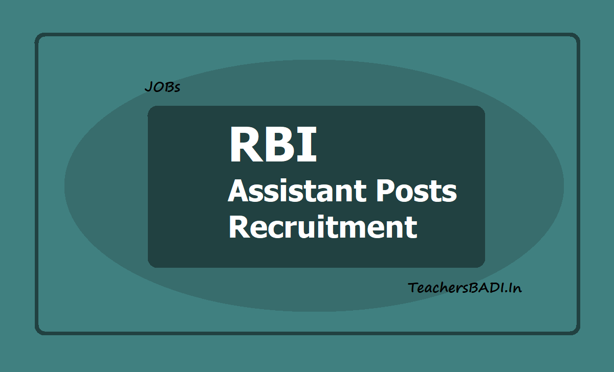 RBI Assistant Posts Recruitment 2020