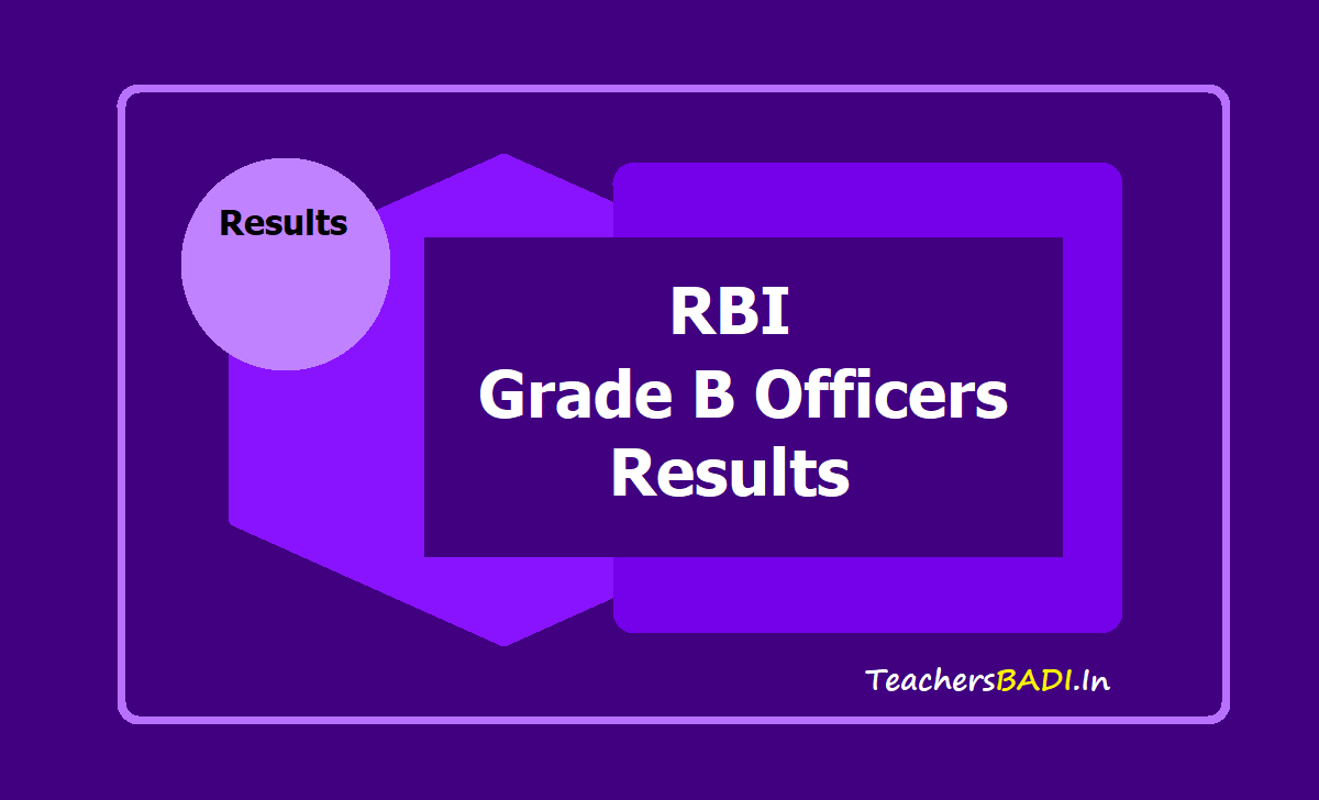 RBI Grade B Officers Results 2019