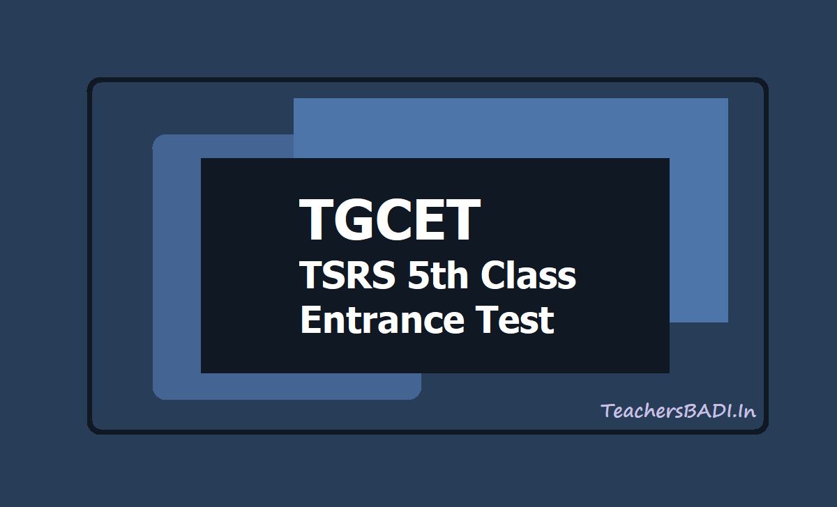 TGCET TSRS 5th Class Entrance Test